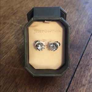 Authentic Juicy Couture crown earrings